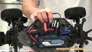 Mise en route du SLASH VXL TRAXXAS (moteur electrique brushless).mp4