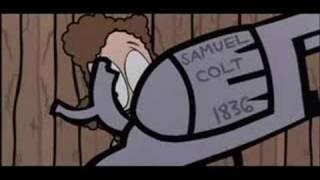 Küçük bir Karikatür NRA Ve KKK ile alay Ediyor