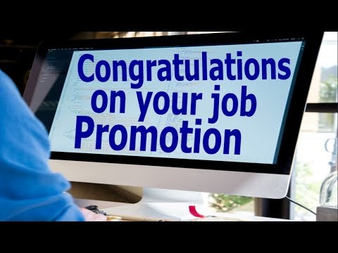 Congratulations On Your Job Promotion