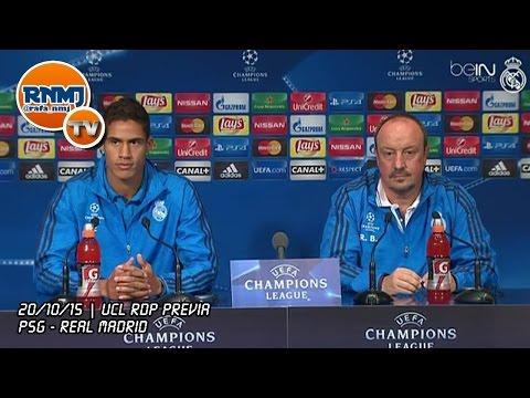 Rueda de prensa de Benítez y Varane previa PSG - Real Madrid | Champions Grupo A Jornada 3