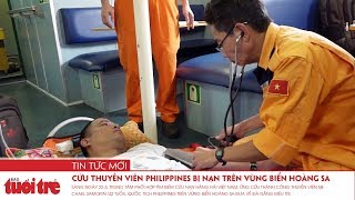 Cứu thuyền viên Philippines bị nạn trên vùng biển Hoàng Sa thumbnail