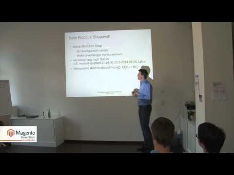Setup Scripts Einführung als Vortrag beim Magento-Stammtisch Hamburg