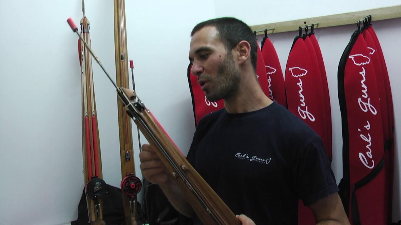 Des fusils de chasse sous marine en bois made in Corse YouTube
