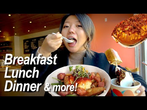 WHAT TO EAT IN CALGARY! 24 Hours Canadian Food Tour ft. BREAKFAST Poutine & GIANT Chili Dogs