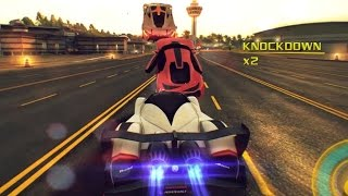 Asphalt 8 - 175 Knockdowns with Instant Acceleration (Devel Sixteen French Guiana 32 Racers)
