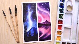painting watercolor easy sky night beginners step