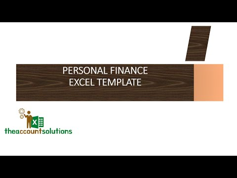 HOW TO MANAGE PERSONAL FINANCE ON EXCEL (Personal Finance Template-1