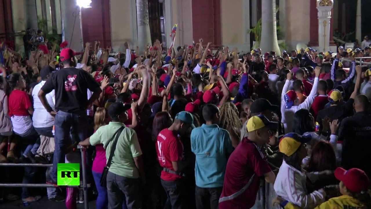 Выборы в Венесуэле: первые минуты после объявления результатов