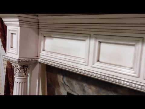 Glazed Antique Finish Burlington Mantel - Custom Antique Mantel