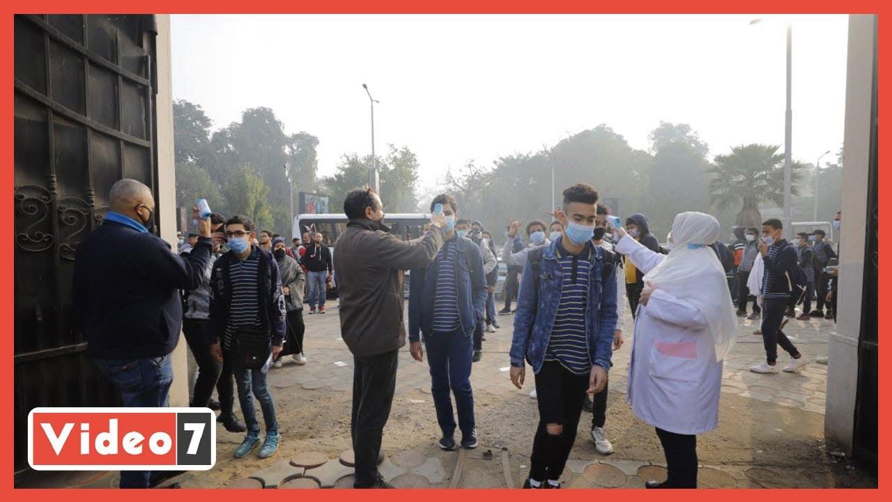 إجراءات إحترازية  لطلاب جامعة القاهرة أثناء الإمتحانات للوقاية من كورونا  - 09:58-2021 / 2 / 27