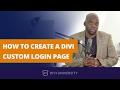 Divi 3.0 tutorial - How to create a Divi custom login page