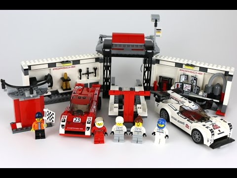 lego speed champions porsche 919 hybrid 917k pit lane. Black Bedroom Furniture Sets. Home Design Ideas