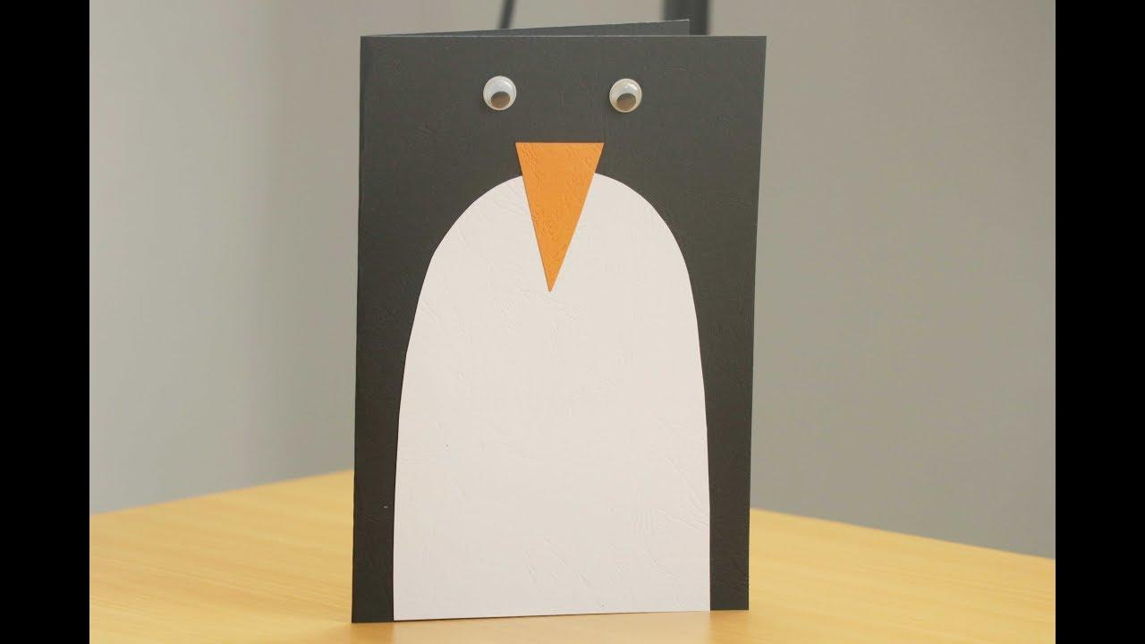 Penguin Christmas Cards Homemade.Diy Christmas Cards Easy Christmas Card Tutorial Ideas