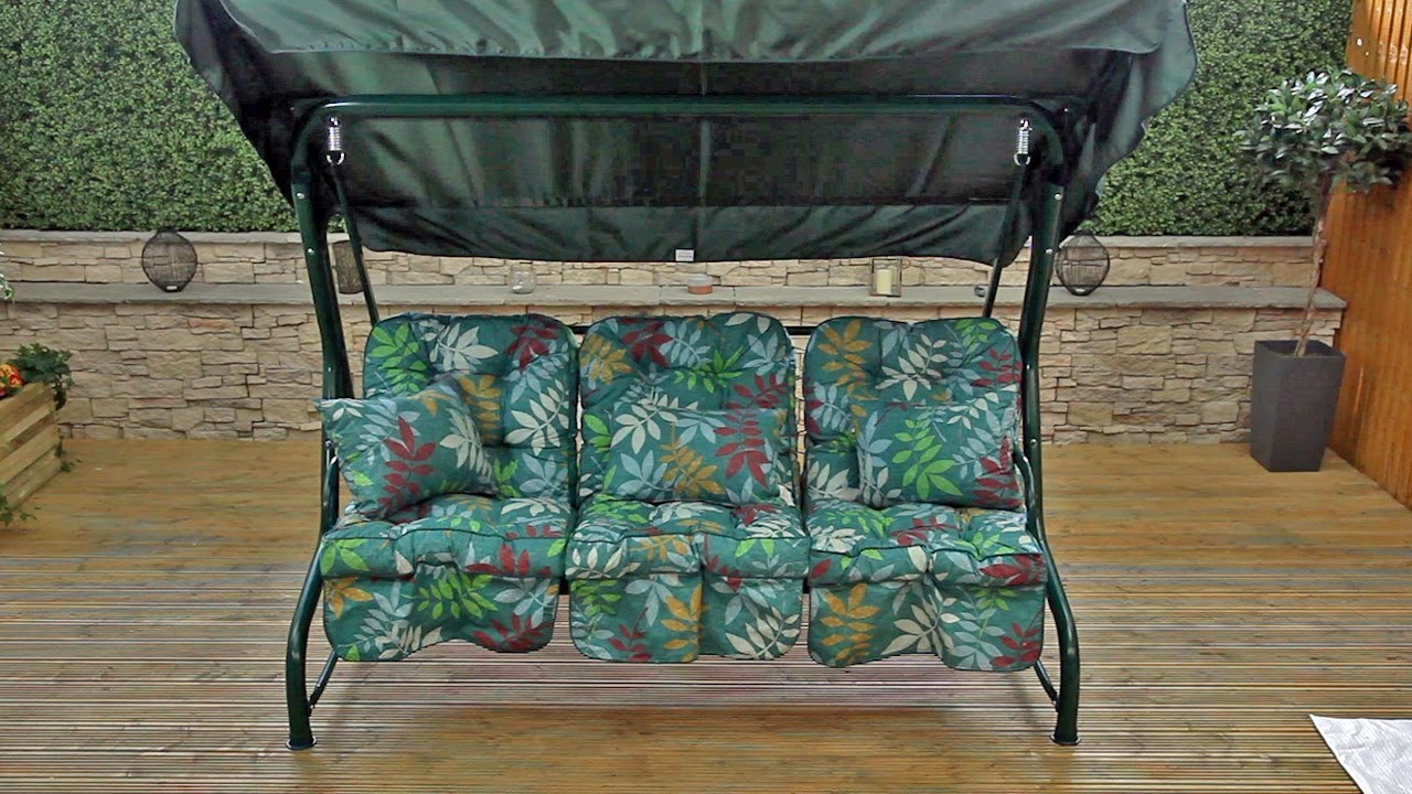 Roma 3 Seater Swing Seat Assembly Instructions Youtube
