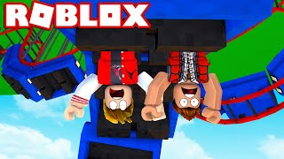 ROLLER COASTER UPSIDE DOWN ON ROBLOX!