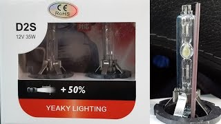 Yeaky HID D2s 5500K китайские ксеноновые лампочки в фарах Мерседес W220