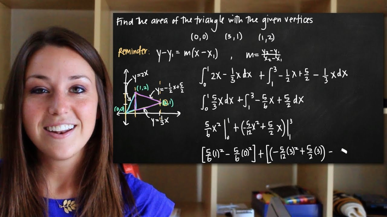Area Of The Triangle With The Given Vertices (kristakingmath)  Youtube