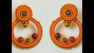 Quilling earrings-How to make easy quilled earrings (Tutorial)
