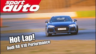 Audi R8 V10 Performance | Hot Lap Hockenheim GP | sport auto