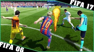 LIONEL MESSI long shot goals evolution with special effects [FIFA 06 - FIFA 17] ⚽