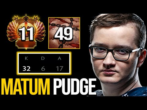 Matumbaman - Pudge   Immortal Top Rank Gameplay - 32 Kills 8700+HP   Pudge Official