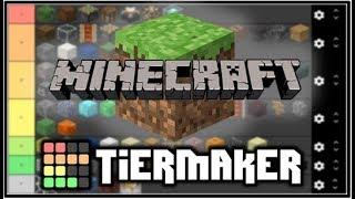 Minecraft Tier Lists - Mobs, Blocks & Servers!