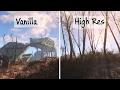 Fallout 4 High Resolution vs Vanilla Textures Graphics Comparison