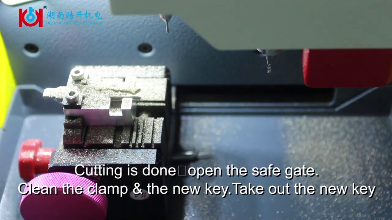 How to cut Hu66 key by using Hu66 auxiliary clamp on SEC E9 key cutting  machine with Andriod version