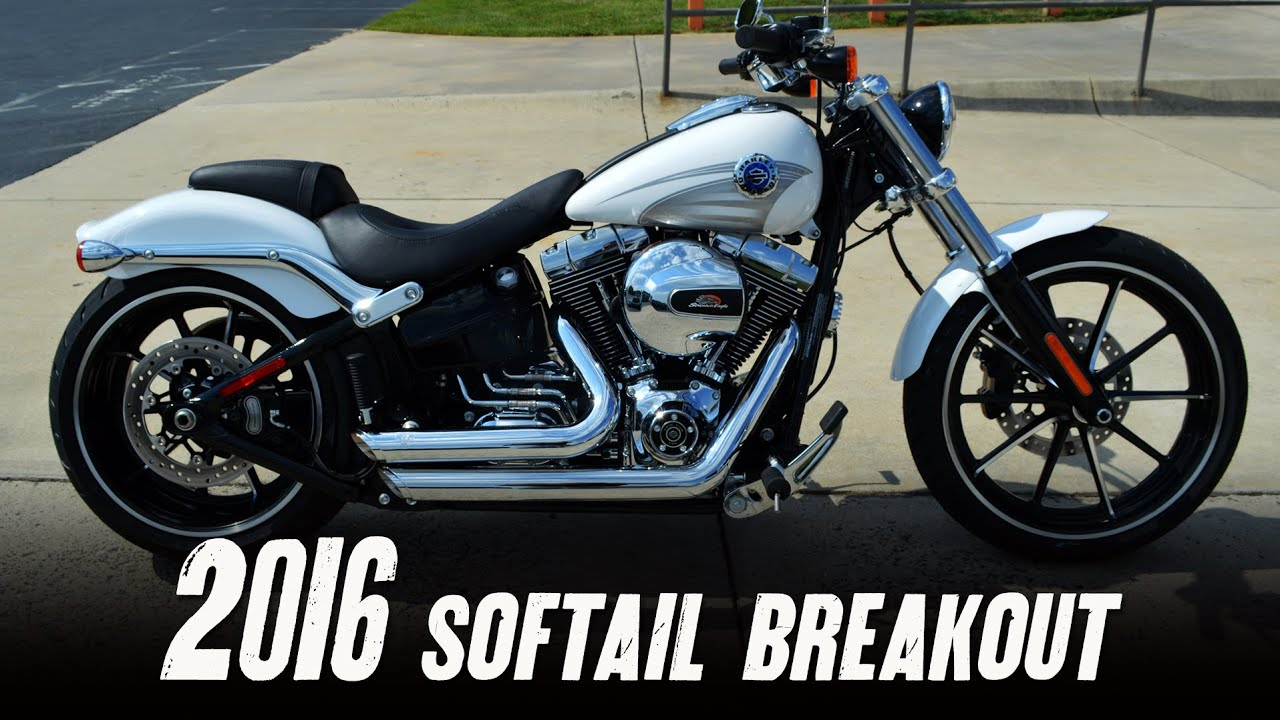 sold 2016 harley davidson fxsb softail breakout crushed ice pearl vance hines short. Black Bedroom Furniture Sets. Home Design Ideas