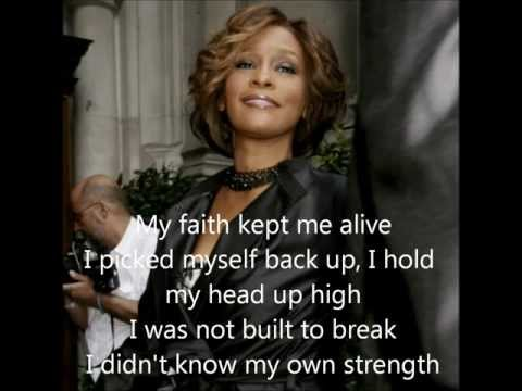 I didn't know my own strength- Whitney Houston with lyrics