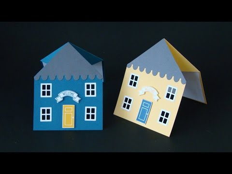 House Shaped Fancy Fold Card