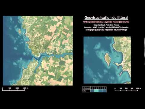Animated coastal geovisualization: photo-realistic rendering of water depth evolution