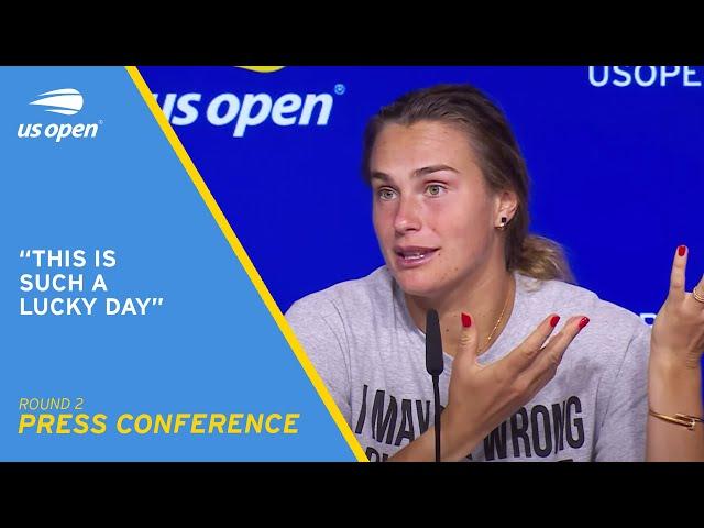 Aryna Sabalenka Press Conference   2021 US Open Round 2