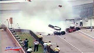 Mark Dismore Big Crash 1991 Indy 500 Practice