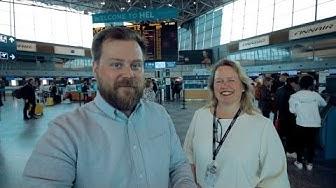 Vieraillaan Helsinki-Vantaan terminaalissa