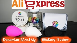 AliExpress Makeup Haul - Beauty Blender Dupe - Review/Demo - December 2016