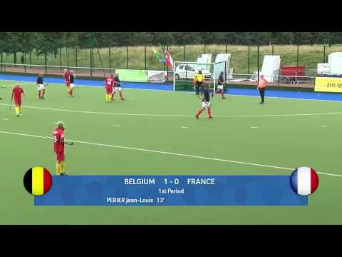 Belgium 9 v France 0. Mens Masters Hockey. European Cup Glasgow 2017