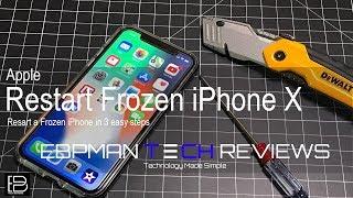 How to restart a FROZEN Apple iPhone 10 ( iphone x reset )