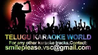 Em Sandeham Ledhu Karaoke || Oohalu Gusagusalade || Telugu Karaoke World ||