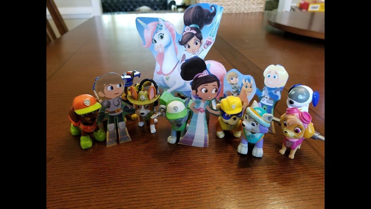 df15a16e3 Nella the Princess Knight toys! Cutouts meetup with Paw Patrol Toys ...
