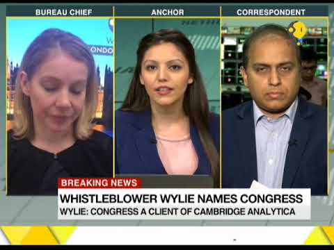 Congress one of their clients, says whistleblower of Cambridge Analytica