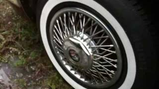 1986 Buick Park avenue-How to easily clean your WHITE wall tires- using j45007's method