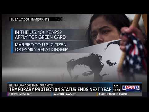 The end of TPS, KHOU interview with Immigration Attorney Bruce Coane