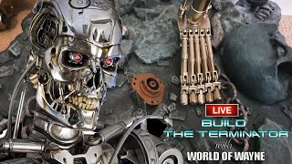 Build the Terminator LIVE - Part 71, 72 and 73 - Right Foot and Starting the Left Shoulder Joint