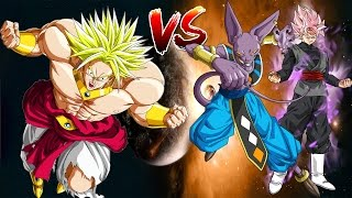 Extreme Broly vs Beerus and black Mugen Epic Fight