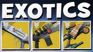 Destiny 2 - ALL EXOTICS Coming in Forsaken & Exotic Perks !!