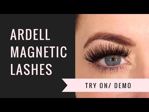 da33e8bb179 ARDELL MAGNETIC LASHES WISPIES TRY ON/ DEMO - YouTube