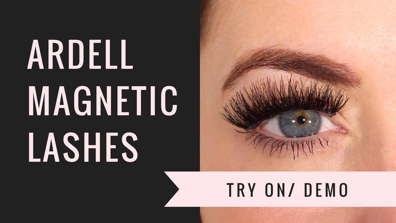754a8195f45 ARDELL MAGNETIC LASHES WISPIES TRY ON/ DEMO - YouTube