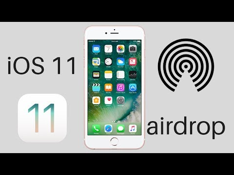 Airdrop in iphone x and iphone 8 : ios 11
