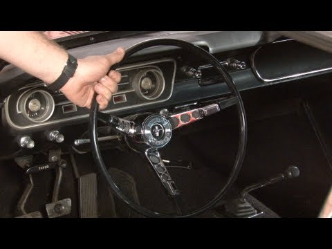 Mustang Steering Wheel Replacement 1965-1966 Installation - YouTube